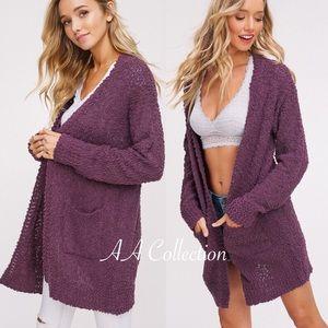 Sweaters - open knit cardigan sweater soft